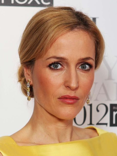 <p>Gillian Anderson at the 2012 ELLE Style awards</p>