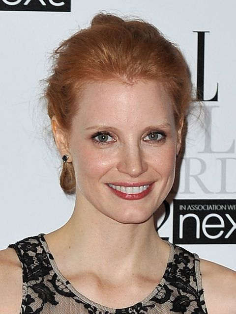 <p>Jessica Chastain at the 2012 ELLE Style Awards</p>