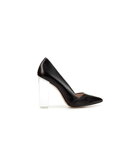 "<p><a href=""http://www.zara.com/webapp/wcs/stores/servlet/product/uk/en/zara-S2012/189510/677521/COURT%2BSHOE%2BWITH%2BMETHACRYLATE%2BHEEL"">Zara</a> court shoes, £79.99</p>"