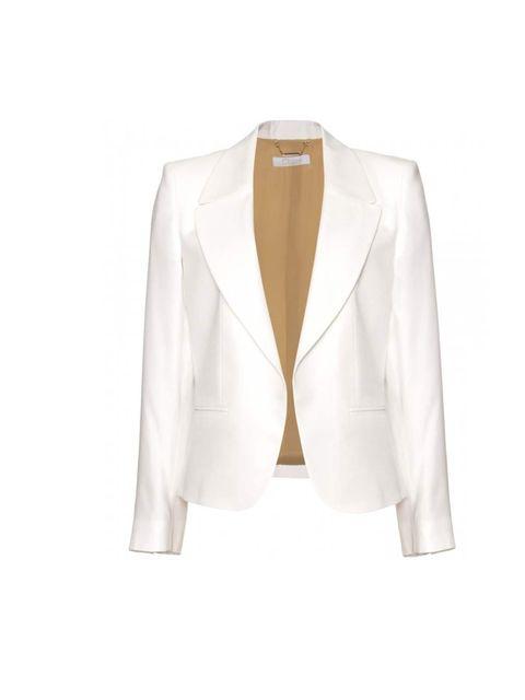"<p>Chloe blazer, £1140, at <a href=""http://www.mytheresa.com/en-de/fitted-blazer-196149.html"">MyTheresa.com</a></p>"