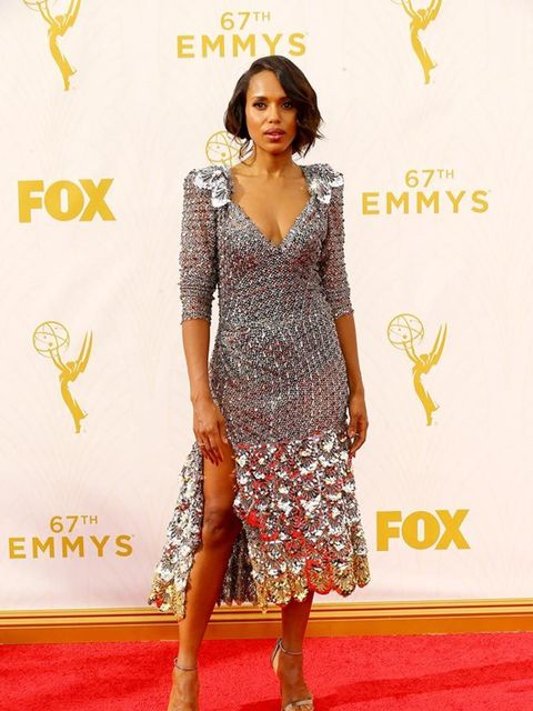 Kerry Washington at the Emmy Awards in LA, September 2015.