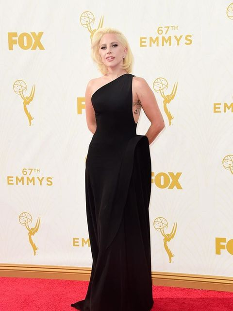 Lady Gaga at the Emmy Awards in LA, September 2015.