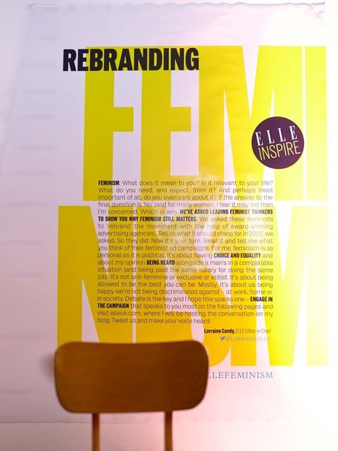 <p>ELLE asks: Does Feminism Need a Rebrand?</p>