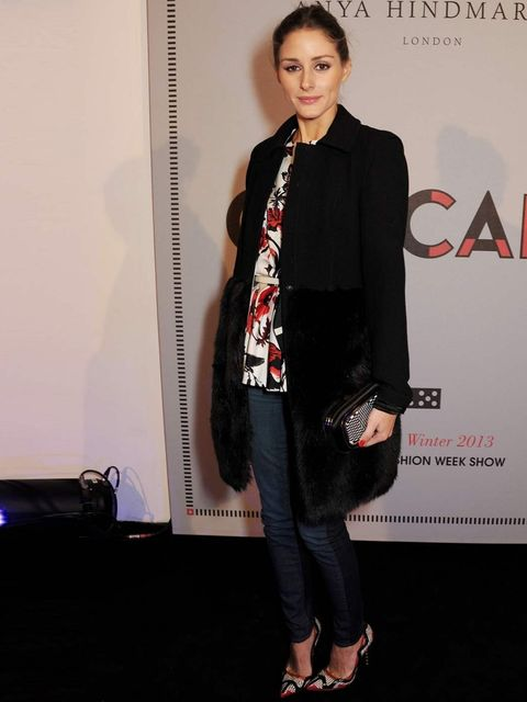 "<p><a href=""http://www.elleuk.com/star-style/celebrity-style-files/olivia-palermo"">Olivia Palermo</a> at the <a href=""http://www.elleuk.com/catwalk/designer-a-z/anya-hindmarch/autumn-winter-2013"">Anya Hindmarch Autumn Winter 13 show</a>.</p>"