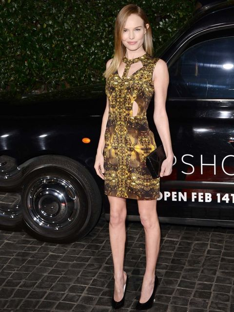 <p>Kate Bosworth attends the Topshop store opening in Hollywood, February 2013.</p>
