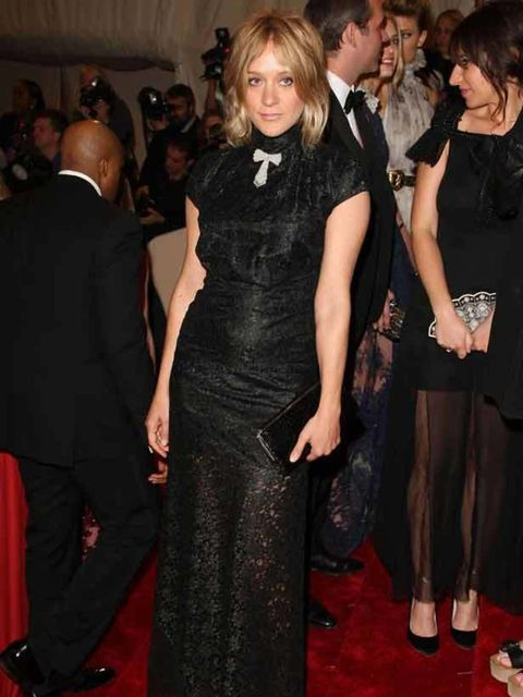 """<p>Chloe Sevigny wearing <a href=""""http://www.elleuk.com/catwalk/collections/alexander-mcqueen/autumn-winter-2011/review"""">Alexander McQueen</a> at The Met Ball, 2 May 2011 in New York.</p>"""