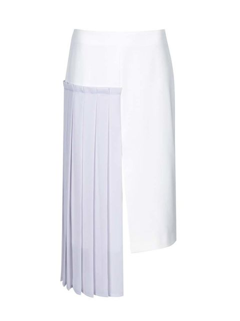 """<p>Editorial Assistant Gillian Brett will pair this hybrid skirt with a cashmere knit and ankle boots.</p><p></p><p><a href=""""http://www.topshop.com/en/tsuk/product/new-in-this-week-2169932/new-in-this-week-493/hybrid-pleat-pencil-skirt-by-boutique-33"""