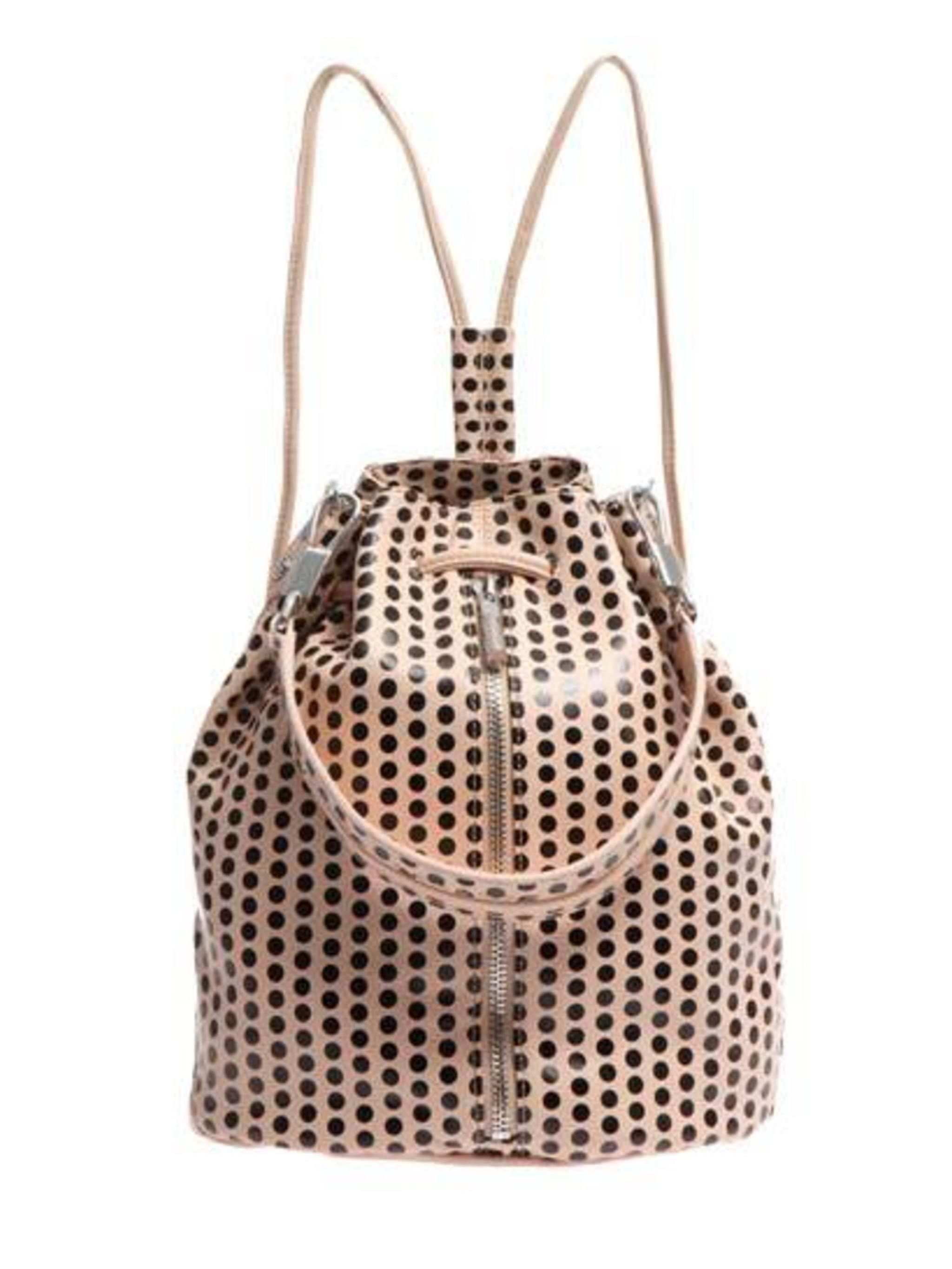 "<p>Get into the SS14 spots trend early. </p><p>Leather Polka Spot Backpack £518 by Elizabeth and James at <a href=""http://www.matchesfashion.com/product/177254"">Matches.com</a></p>"