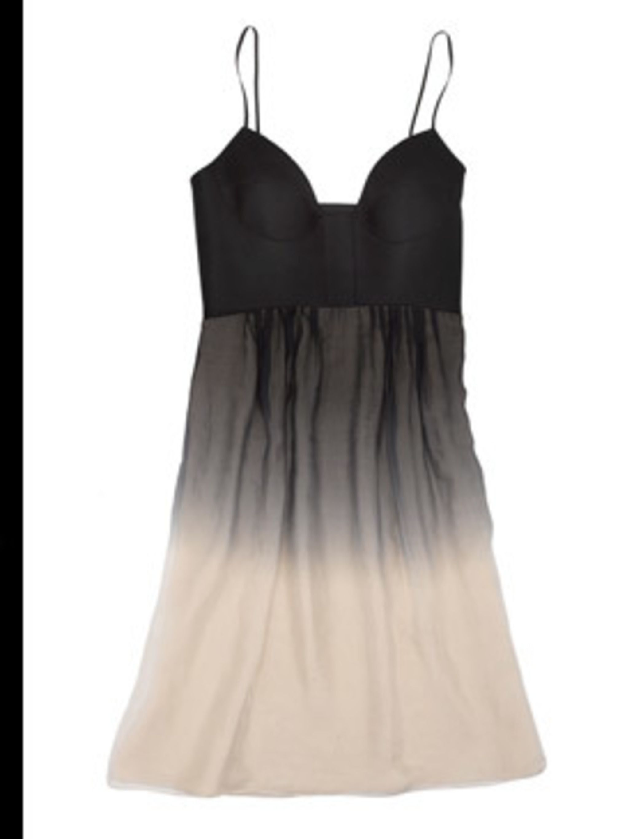 <p>Bustier dress with dip-dye skirt, £670, by Angelo Katapis at Matches. For stockist details call 020 7221 0255.</p>
