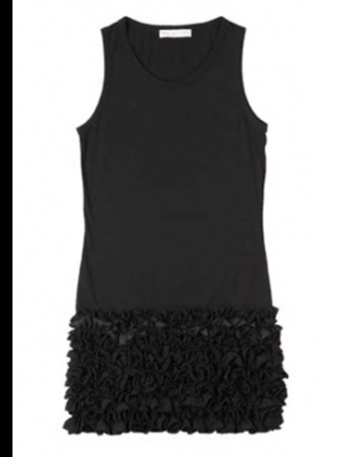 <p>Black ruffle dress £375 by Stella McCartney, available from Start</p>