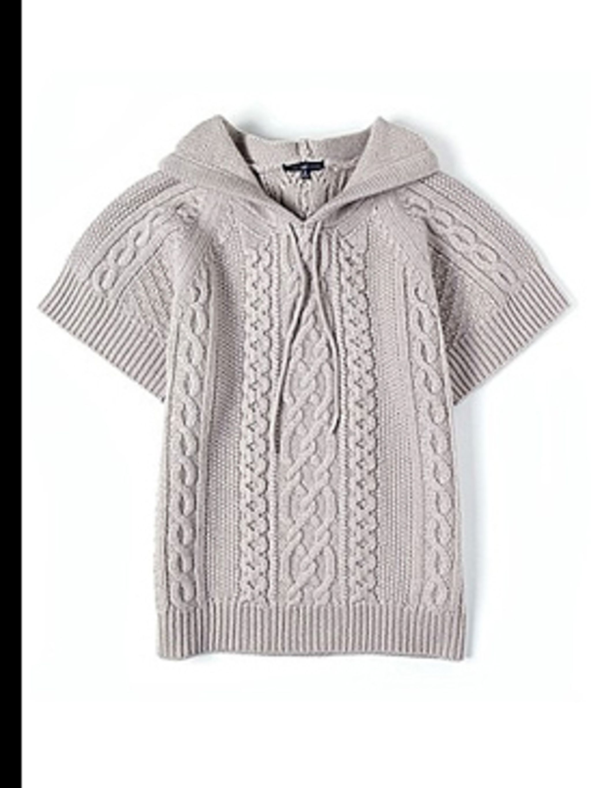 <p>Short sleeved hooded jumper, £45, by Gap, for stockists call (0800 427 789)</p>
