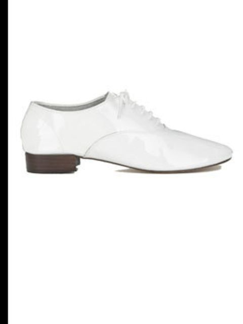 <p>White brogues, £145, by Repetto at Poste Mistress (0207 379 4040)</p>