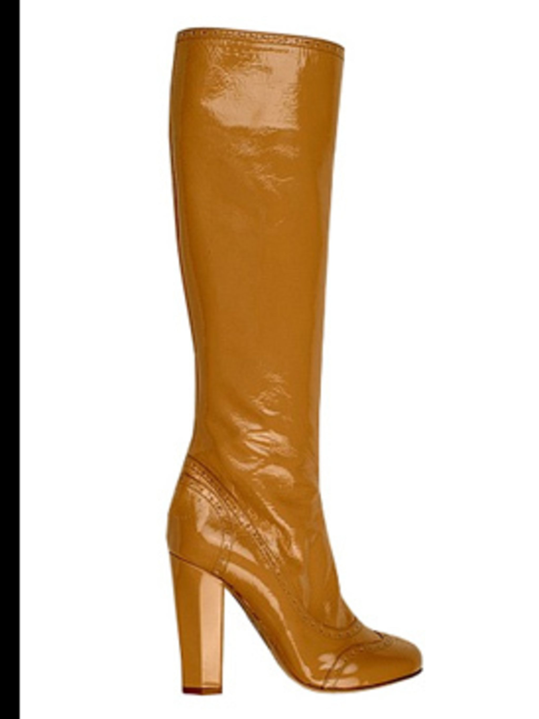 <p>Patent boots £275 by Miu Miu, for stockists call 020 7409 0900</p>