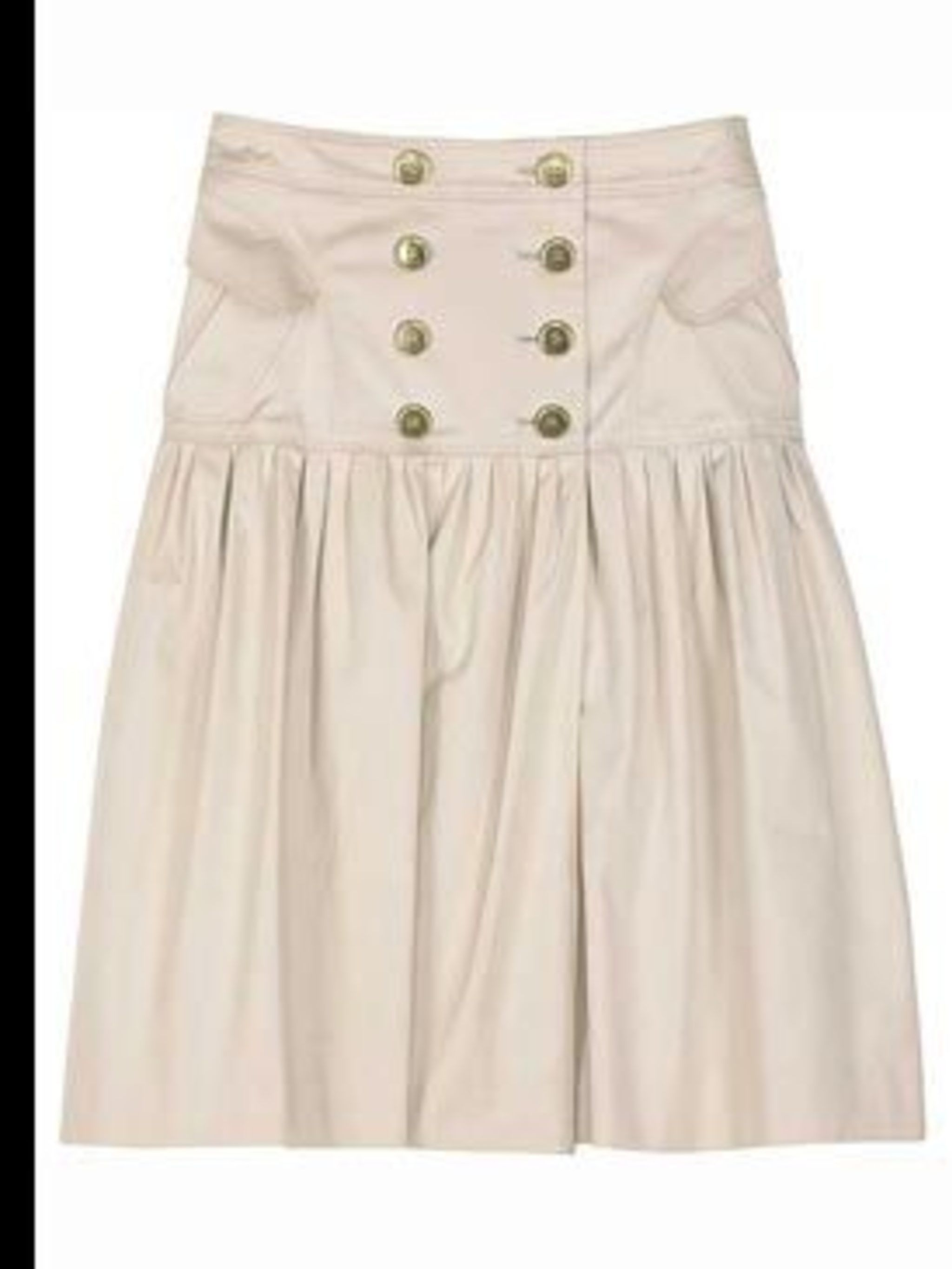 <p>Cream high waisted full skirt, £295, by Burberry, for stockist details call 0700 078 5676 </p>