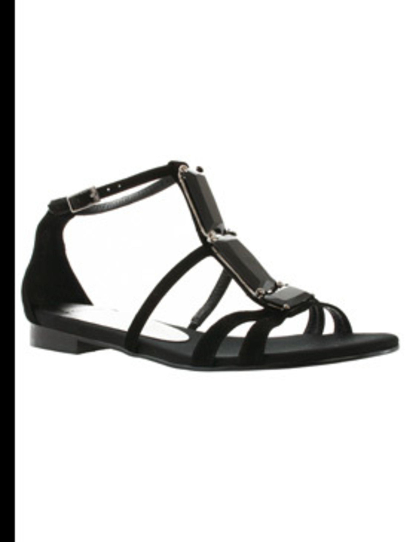 "<p>""Kimberly"" Black suede sandal, £60, Carvela, 0845 257 2571, <a href=""http://www.kurtgeiger.com/"">www.kurtgeiger.com</a>   </p>"