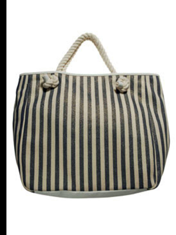 <p>Striped tote bag, £25, Dorothy Perkins, 0845 121 4515</p>