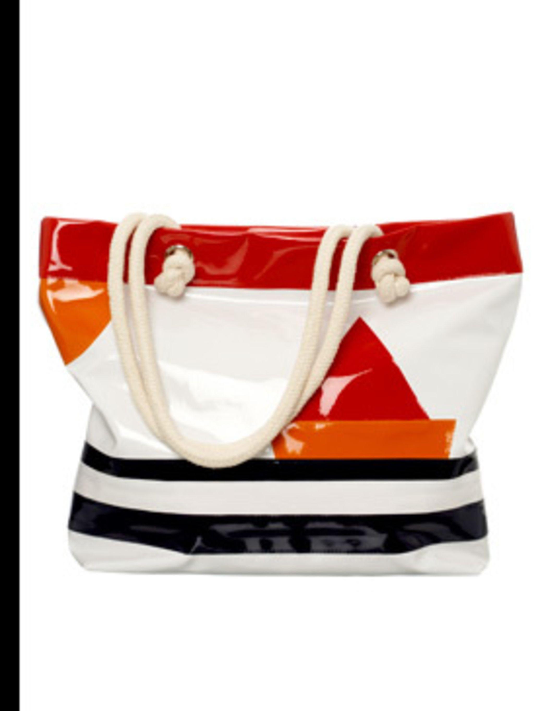 <p>Patent sailor tote bag, £20, Topshop, 0845 121 4519</p>