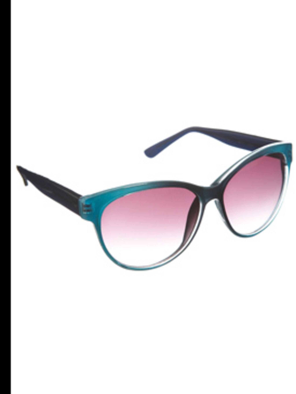 <p>Blue sunglasses, £14, Warehouse, 0870 122 8813</p>