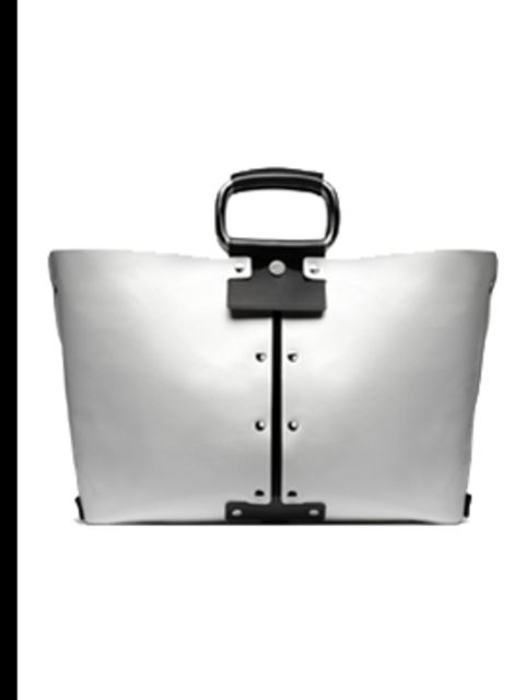 <p>Black and white tote, £1,050, by Roger Vivier, for stockists call (0207 245 8270)</p>