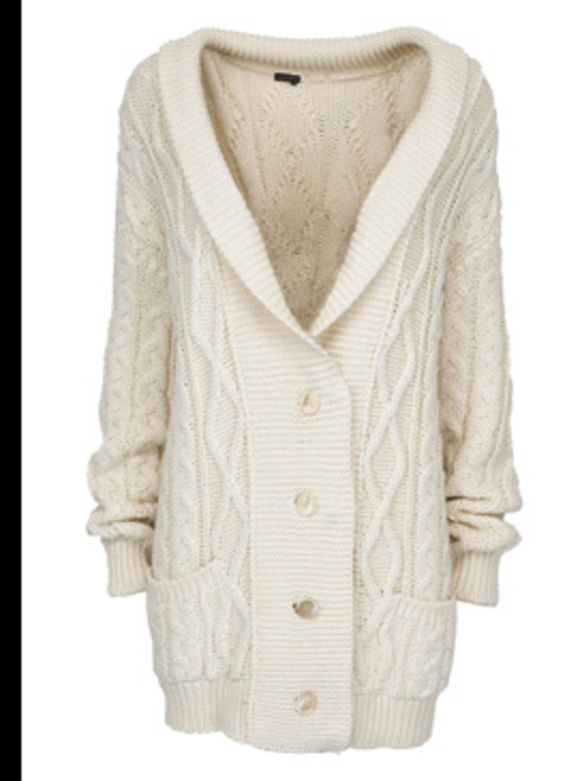 <p>Heavy knit cardigan £149 by Joseph, for stockists call 020 7610 8441</p>