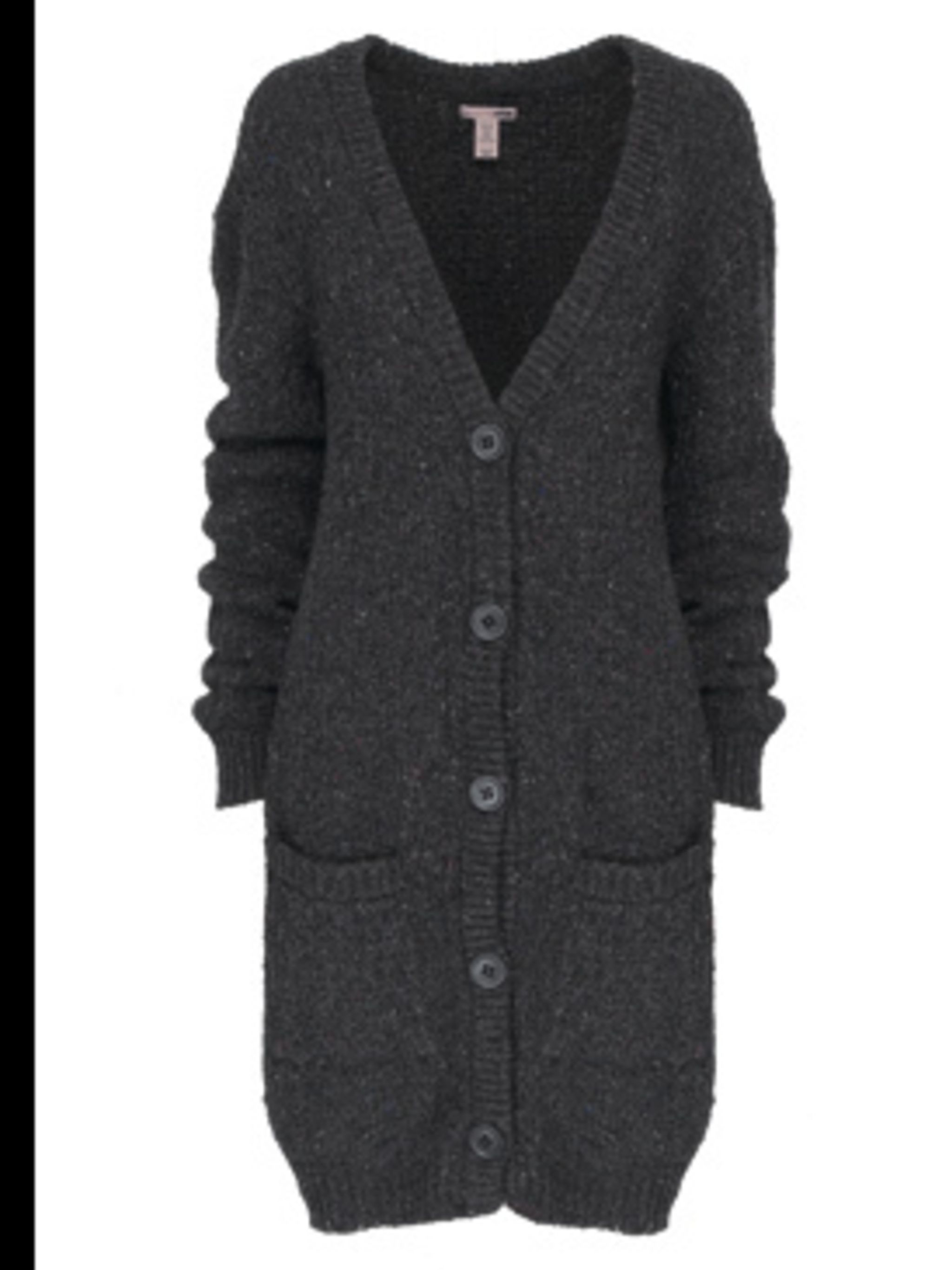 <p>Oversized cardigan £34.99 by H&M, for stockists call 020 7323 2211</p>
