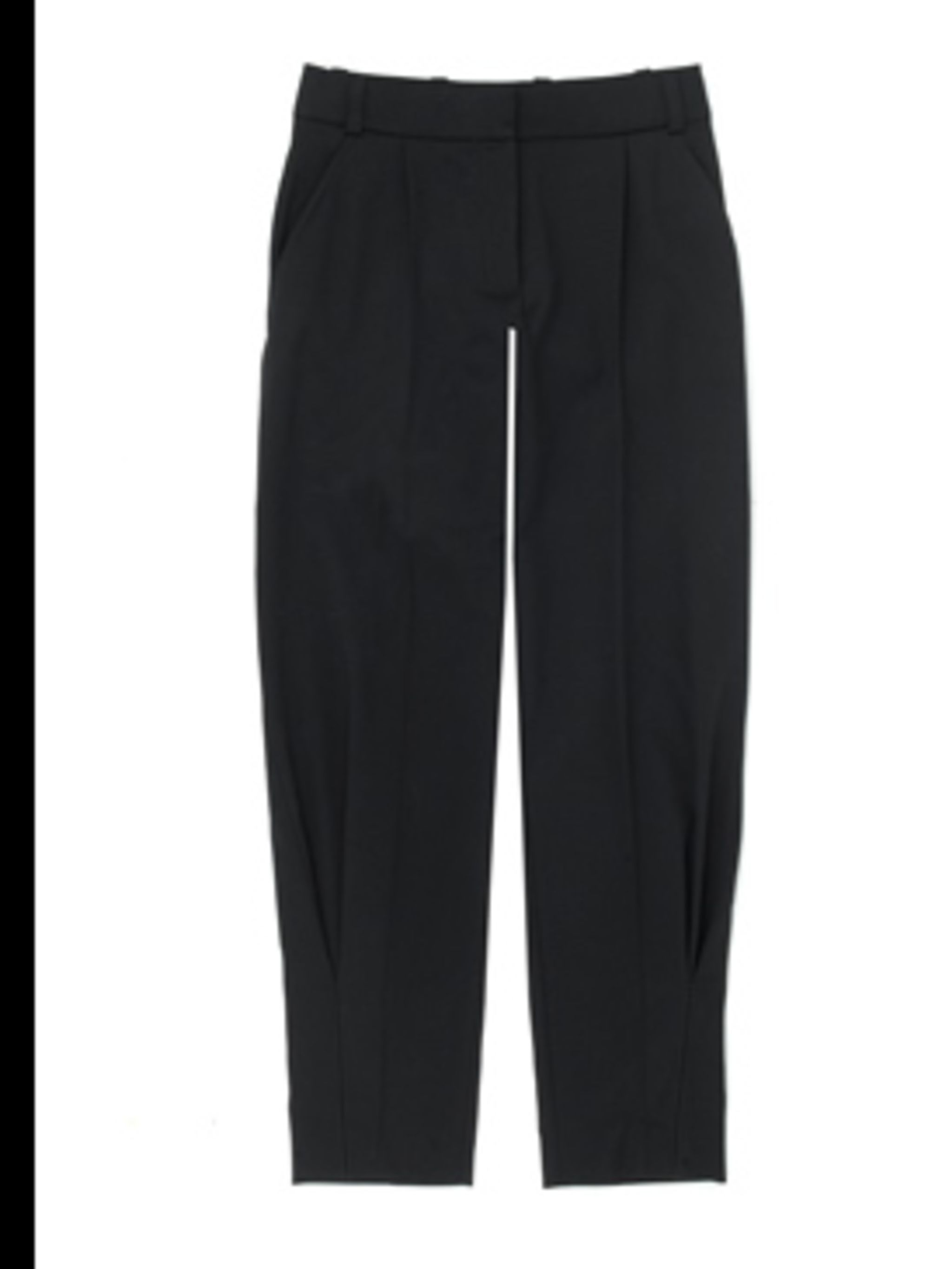 <p>The season's must-have trouser is tailored - get used to the new high waisted, cropped proportions now. Peg-leg trouser, £490.00 by Celine. For stockists call 0207 297 4999</p>