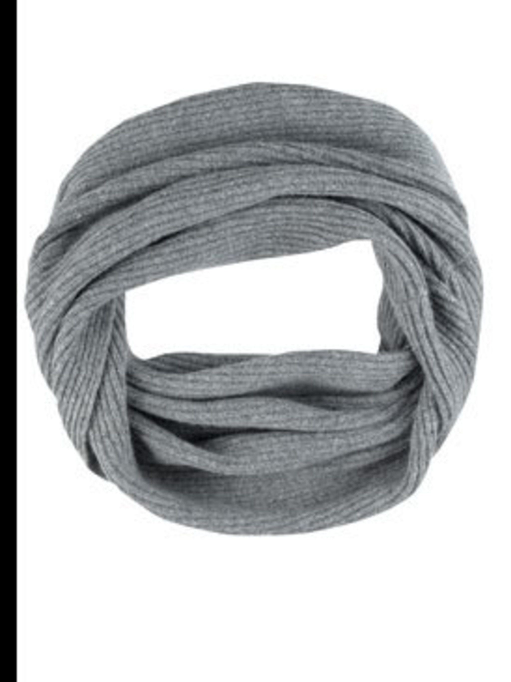 <p>Grey snood, £15, by Marks &amp&#x3B; Spencer (0845 302 1234)</p>