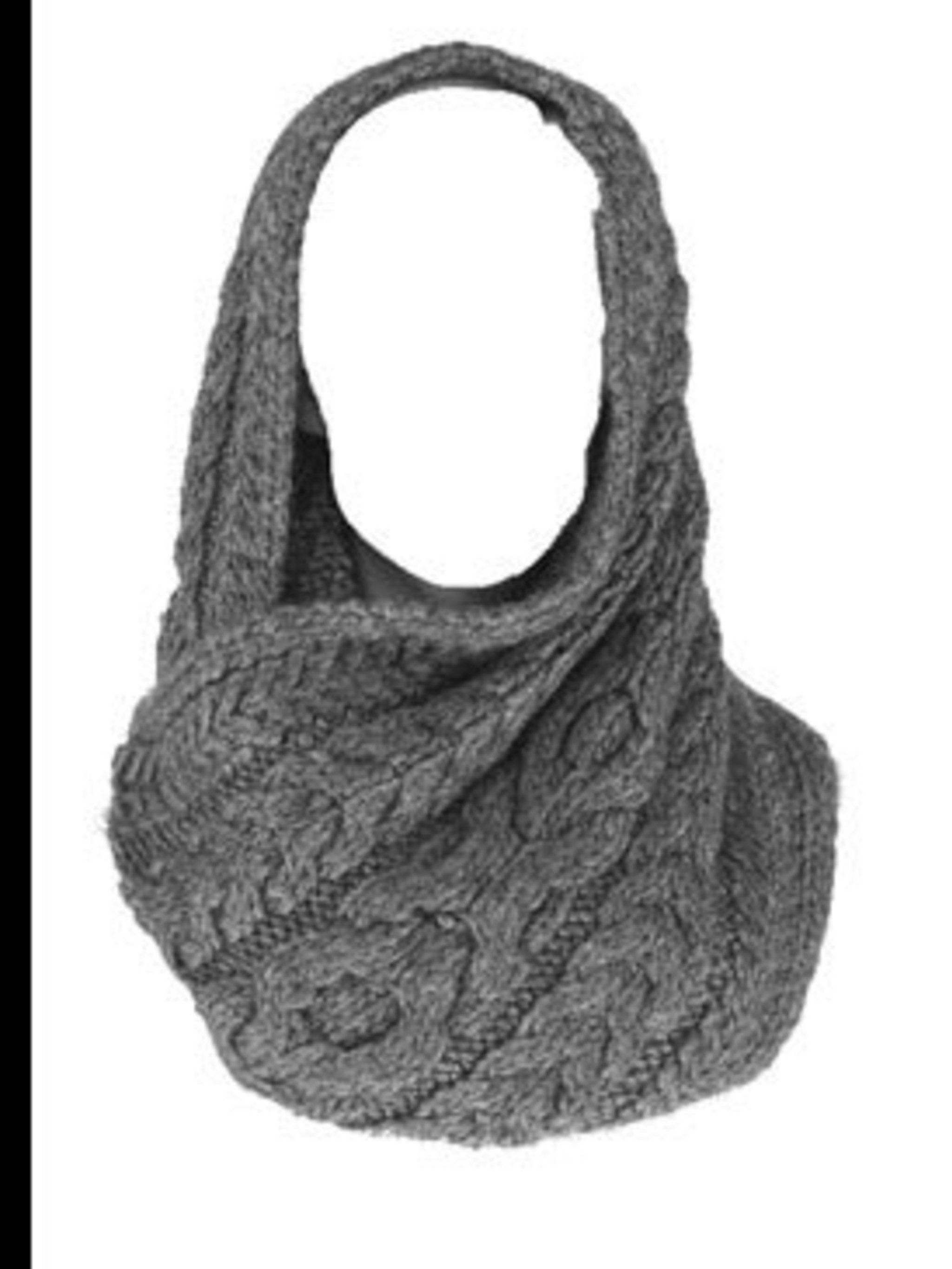 <p>Grey snood, £80, by Banana Republic (0207 758 3550)</p>