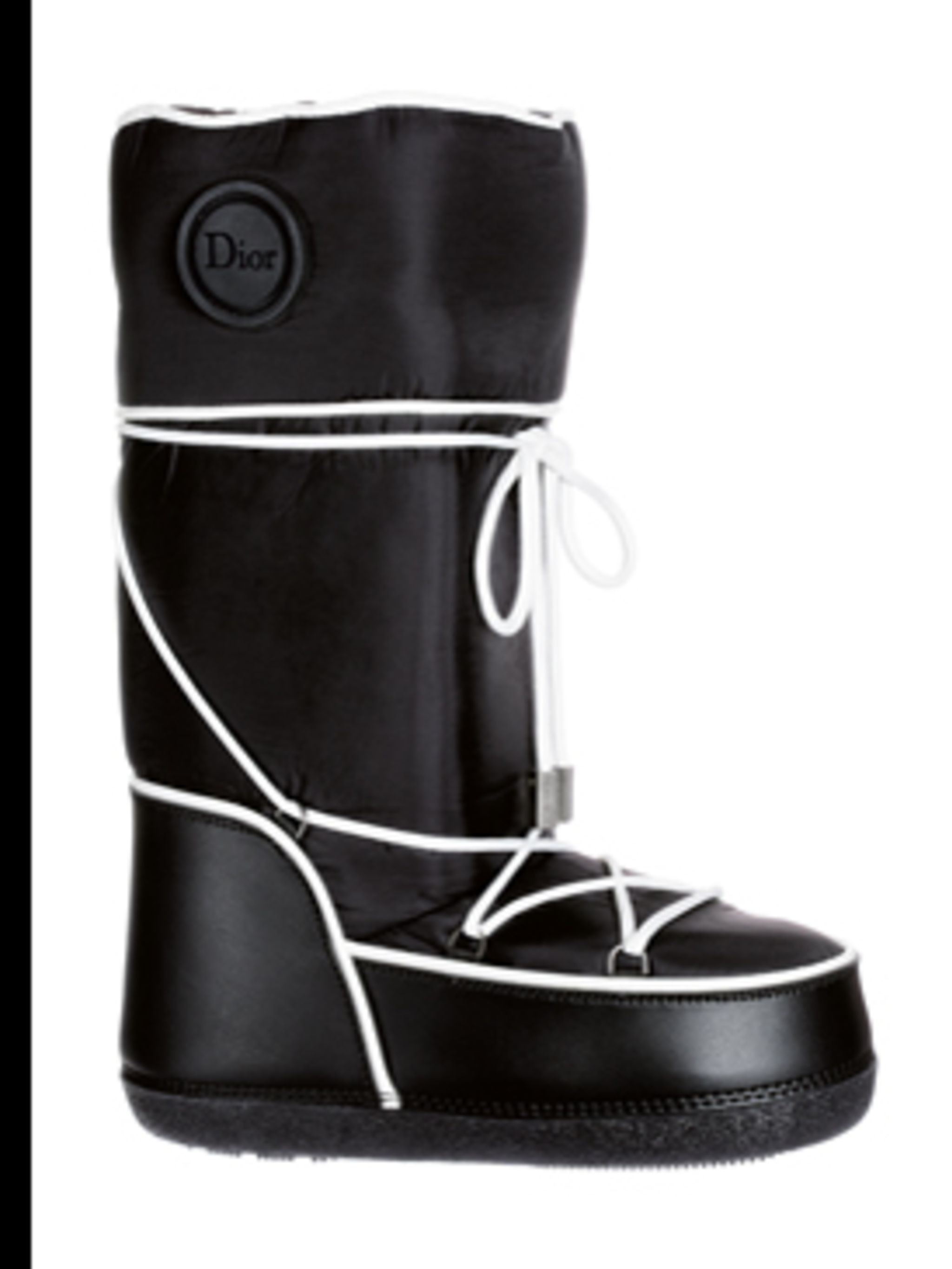 <p>Black ski boot, £190, by Christian Dior, for stockists call (0207 172 0172)</p>