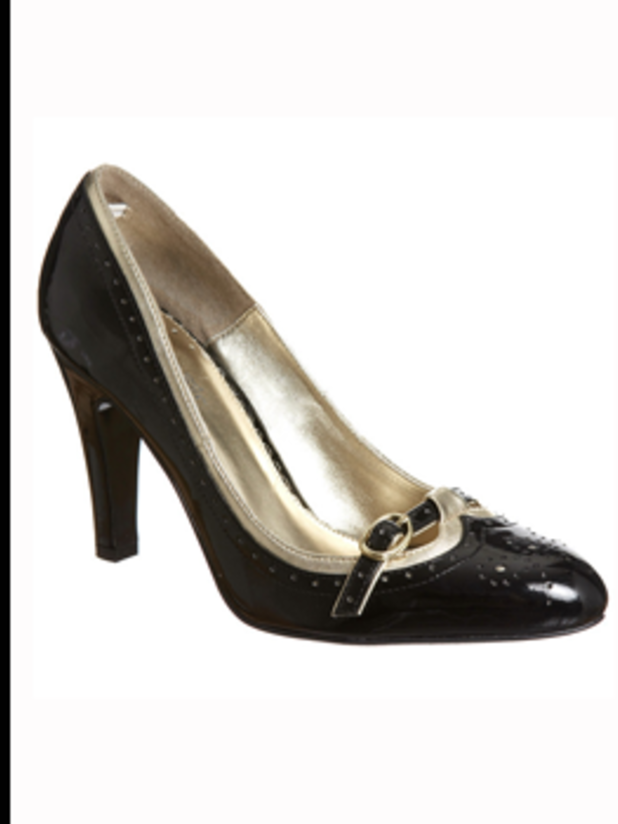 <p>Black patent court shoe, £35 from Miss Selfridge for stockists call 0845 121 4517</p>