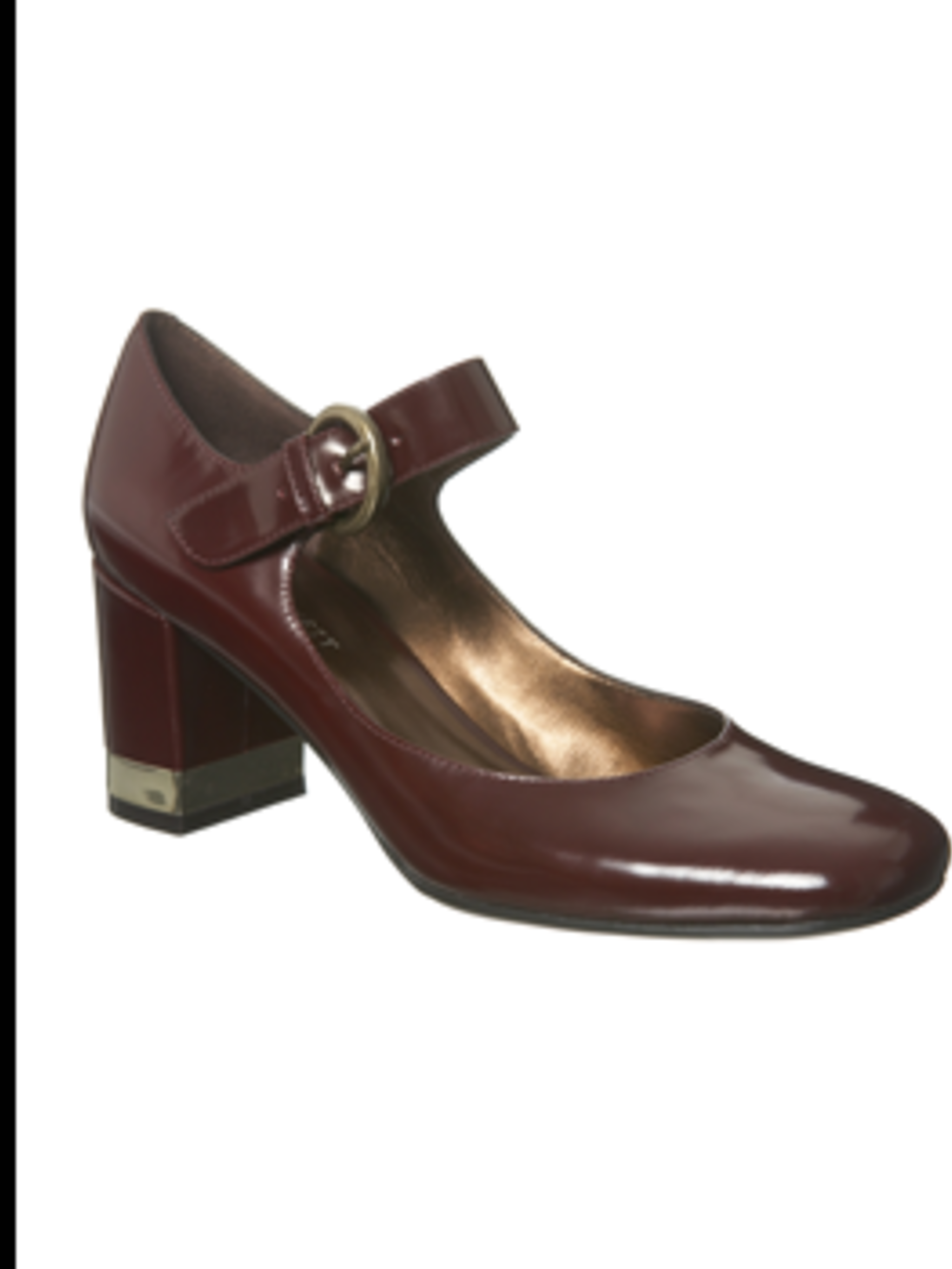 <p>Wine patent mary jane, £65 from Nine West for stockists call 020 7079 7586</p>
