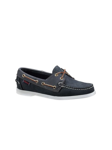 <p>Navy deck shoes, £95, by Sebago (0207 860 0100)</p>