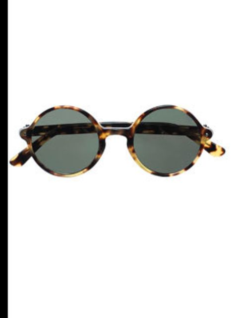 <p>Round lens sunglasses, £210, by Ralph Lauren (0208 515 6700)</p>