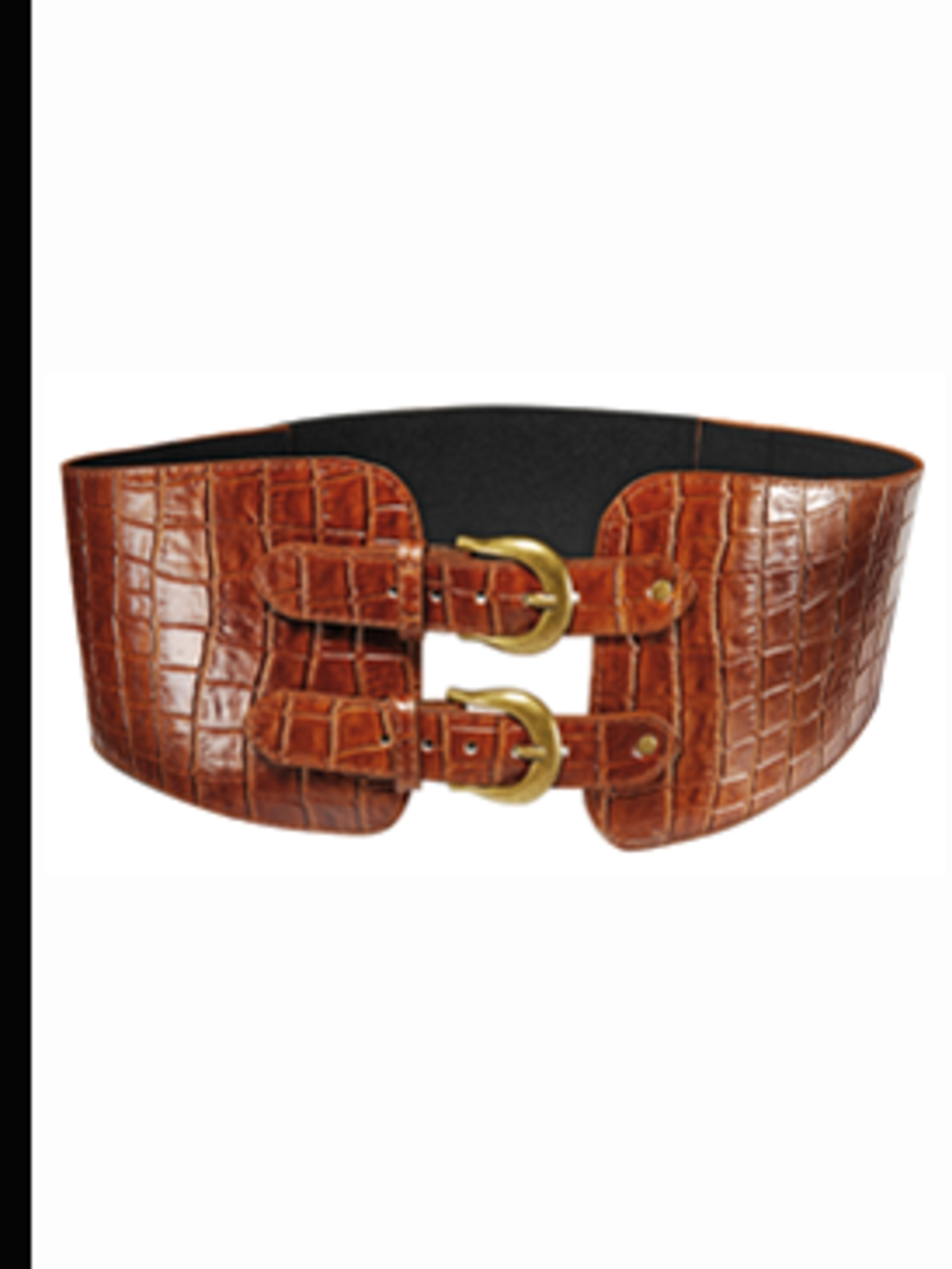 <p>Tan waist cinching belt, £12 from Dorothy Perkins 0845 121 4515</p>