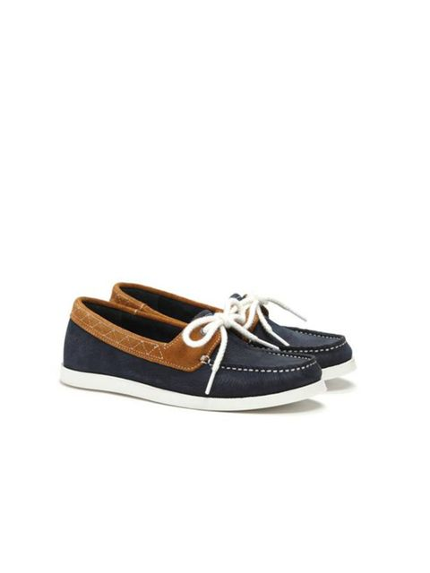 """<p>Navy suede deck shoes, £95, by Pointer at <a href=""""http://www.elleuk.com/fashion/need-to-know/Dover-Street-Market"""">The Three Threads</a></p>"""