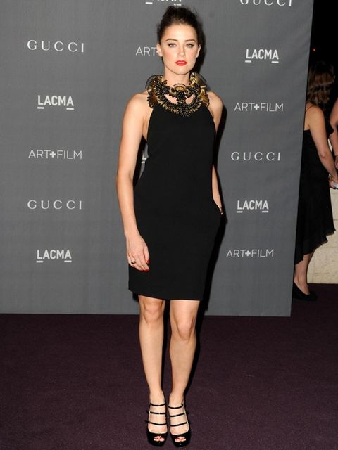 <p>Amber Heard arrives for the LACMA 2012 film and art gala.</p>