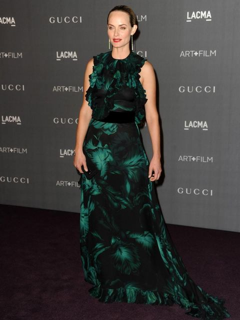 <p>Amber Valetta arrives for the LACMA 2012 film and art gala.</p>