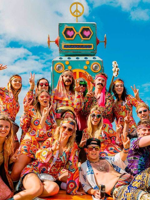 <p>THE LURVE</p><p>Give Bestival-goers a theme, and boy do they run with it. This year, the fancy dress was all about the Summer of Love – cue fields full of flares, round specs and ensembles psychedelic enough to make Austin Powers look understated. Ti