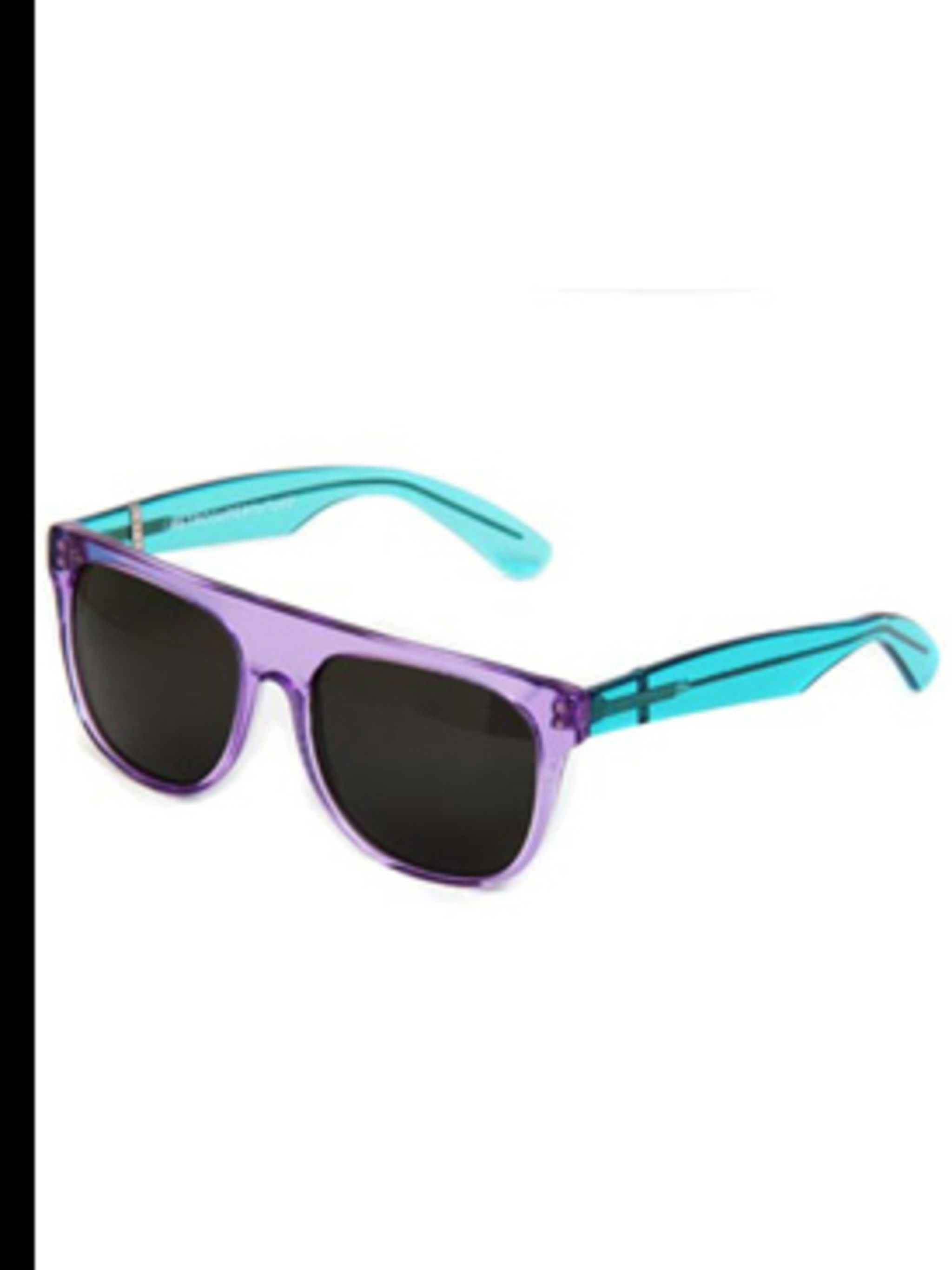 """<p>Sunglasses, £93, by Retrosuperfuture at <a href=""""http://www.ninaandlola.com/retrosuperfuture-sunglasses/retrosuperfuture-sunglasses-turquoise-with-pink-arms-and-zeiss-lenses.html"""">www.ninaandlola.com</a></p>"""