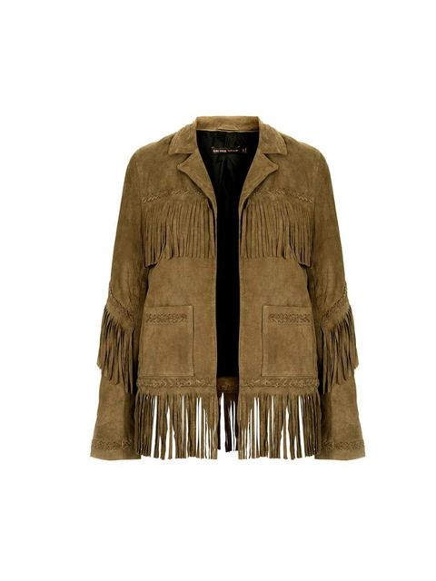 """<p>Kate Moss for Topshop kicks off the festival season as only Kate could. Inject the festival mood into your wardrobe early with this suede fringed jacket, ideal for both day and night. Here are the pieces to pair it with.</p><p>Kate Moss for <a href=""""ht"""