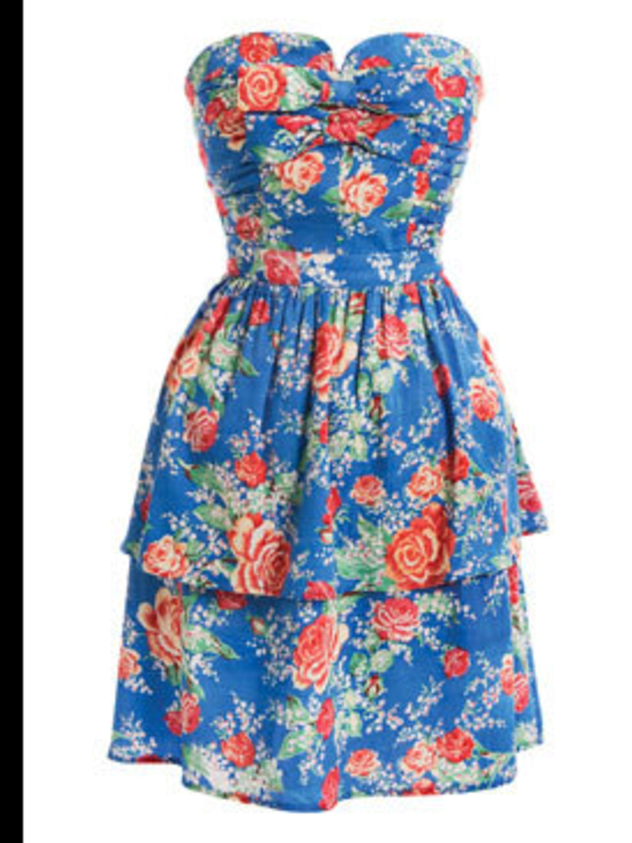 <p>Floral dress, £45, by Miss Selfridge. For stockists call 0845 1214 517 </p>