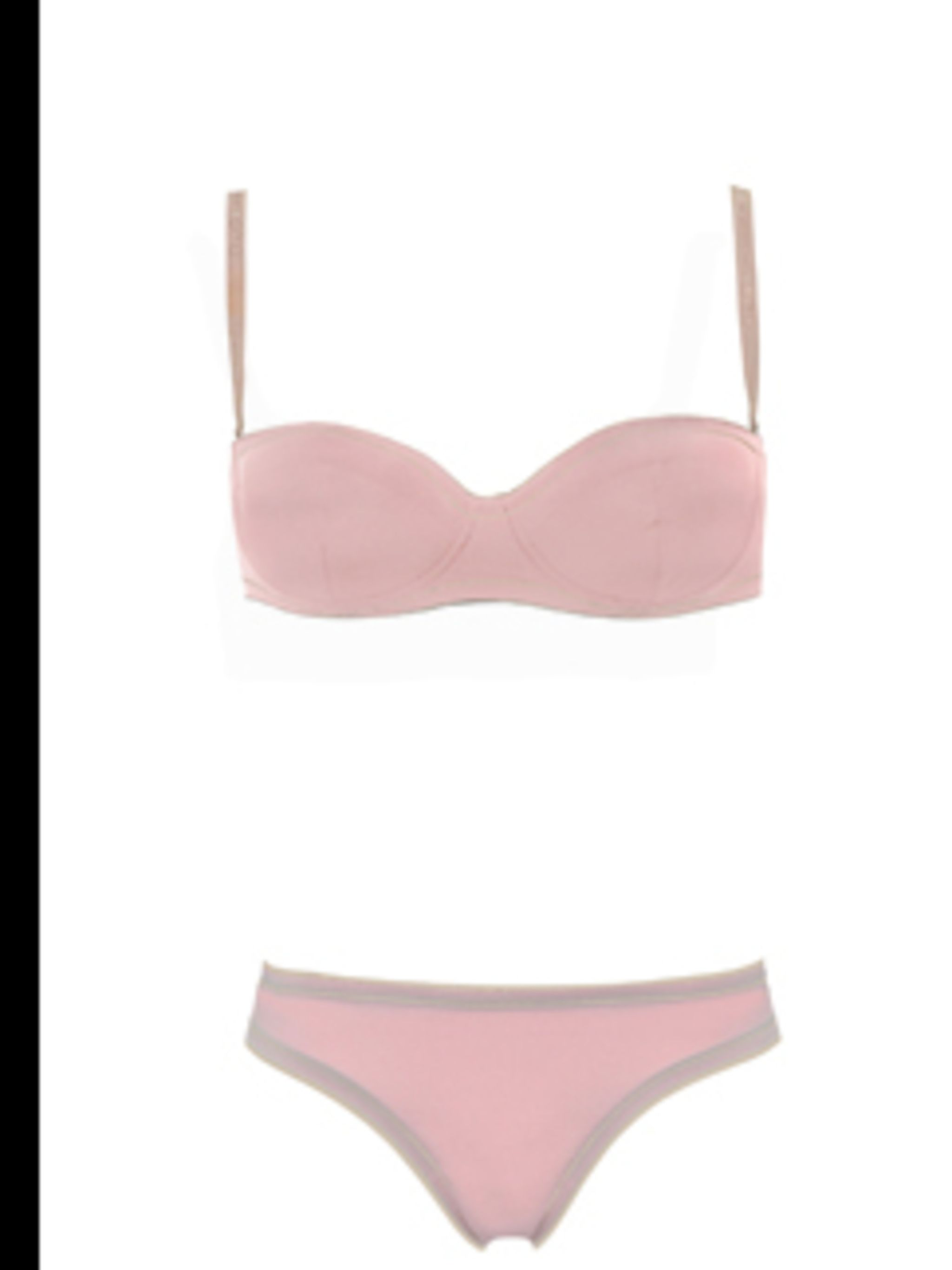 <p>Pink bra, from £33, and knickers, from £23, by D&G, for stockists call 02074959250</p>