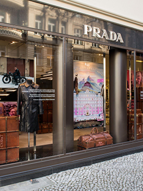<p>The Grand Budapest Hotel window display at the Prada store, Berlin</p>