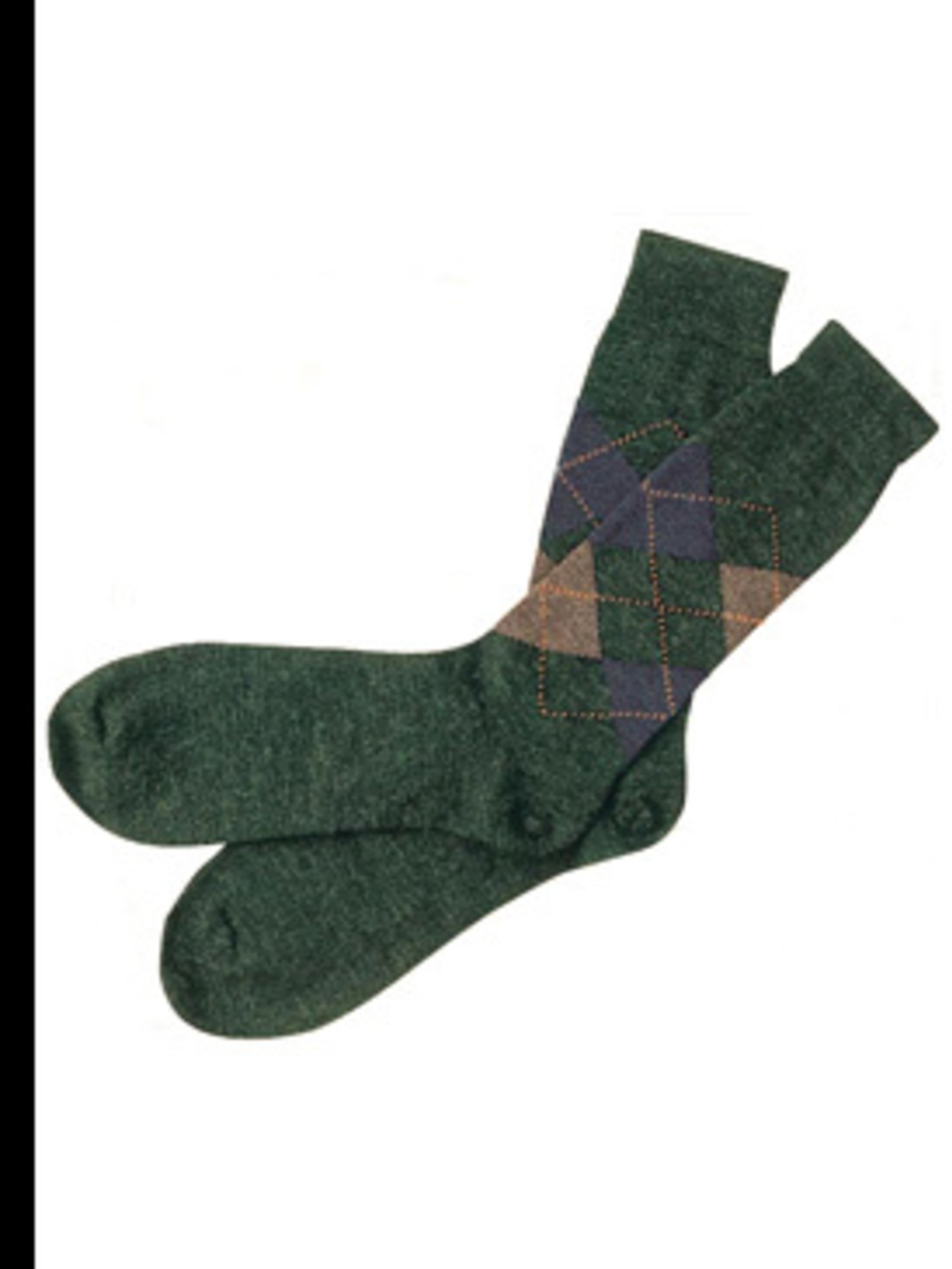 "<p>Argyle ankle socks, £8.95, by <a href=""http://www.barbourbymail.co.uk/newproduct.aspx?ProductStyleID=110666&CategoryID=1642"">Barbour</a></p>"