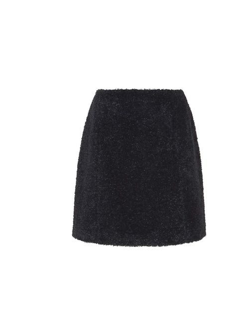 "<p>Embrace this season's texture trend and pair this fuzzy 60s skirt with a mohair jumper for a cute clash. </p><p>Carven skirt, £400 at <a href=""http://www.harrods.com/product/curly-tweed-mini-skirt/carven/000000000003498233?cat1=new-women&cat2=new-women"