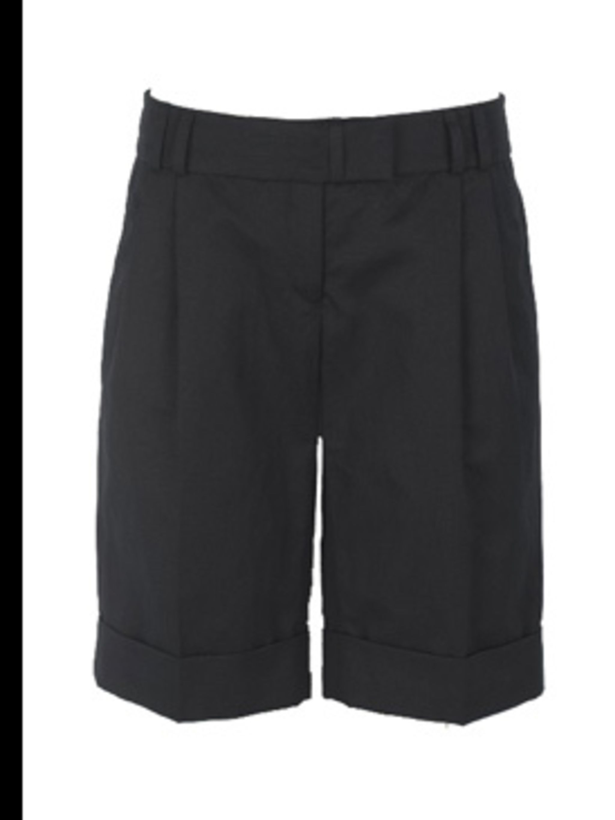 "<p>Black cuffed shorts, £65, by <a href=""http://www.tedbaker.com/shop.do?cID=591&amp&#x3B;pID=5864"">Ted Baker</a></p>"