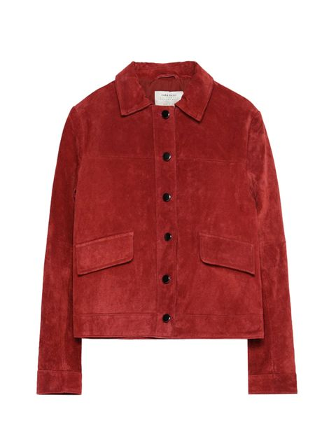 """<p><a href=""""http://www.zara.com/uk/en/collection-aw15/woman/new-this-week/suede-jacket-c744532p2822550.html"""" target=""""_blank"""">Zara</a> jacket, £59.99</p>"""