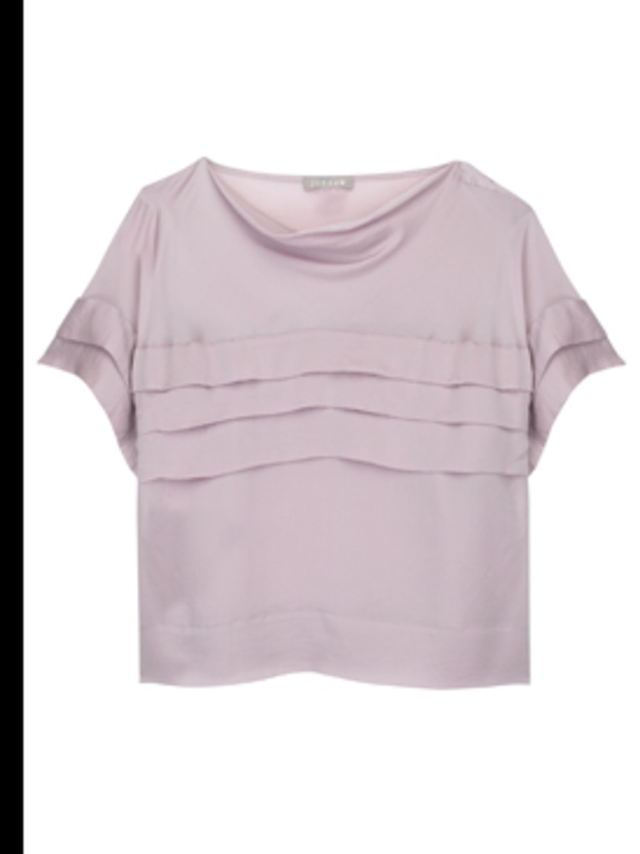 <p>Pink blouse, £139, by Jigsaw. For stockists call 020 8392 5600</p>