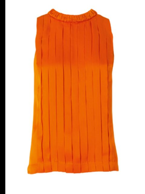 <p>Silk orange tank top, £85, by Banana Republic. For stockists call 020 7758 3550</p>