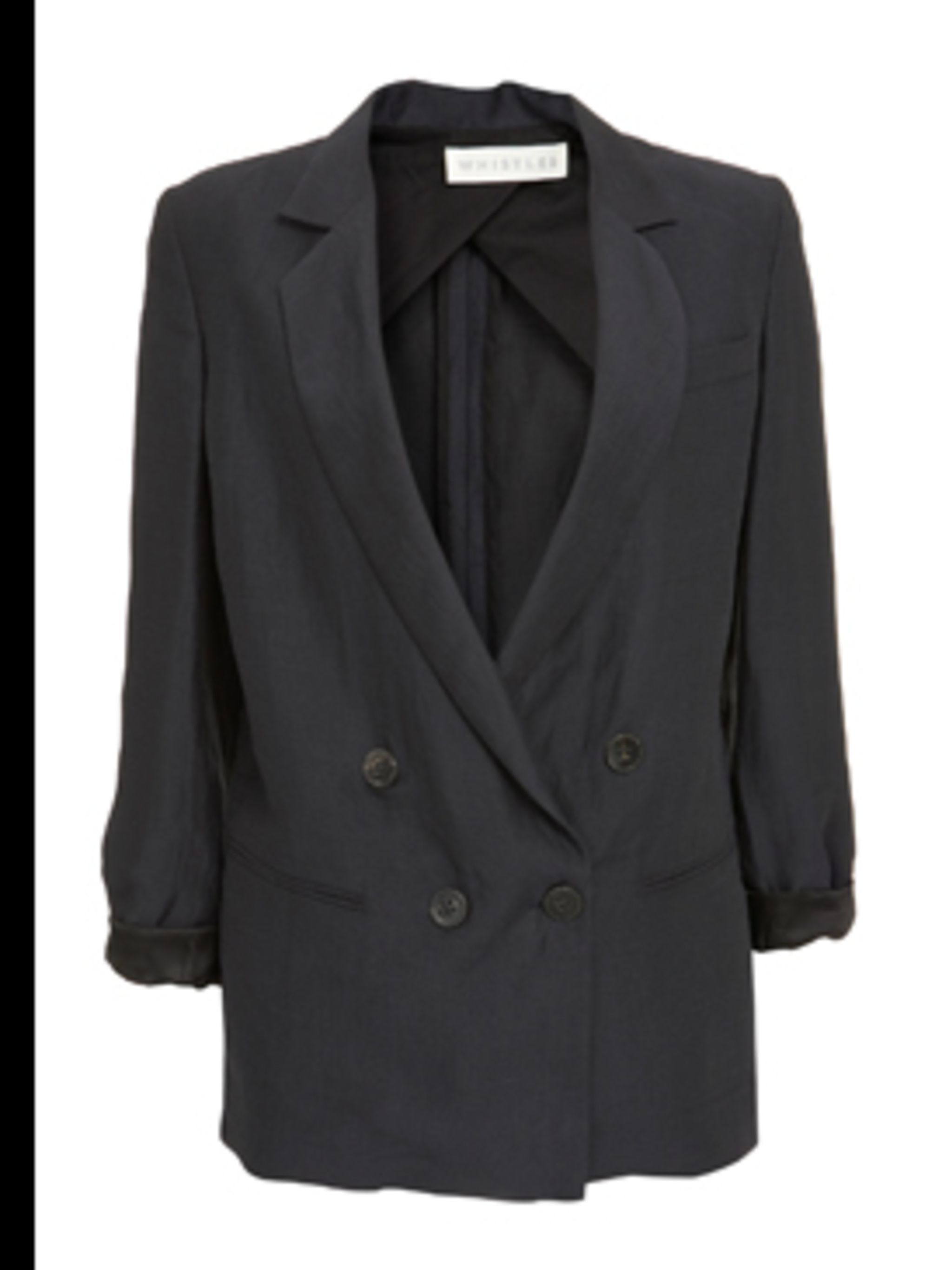 <p>Oversized blazer, £150, by Whistles. For stockists call 0870 770 4301</p>